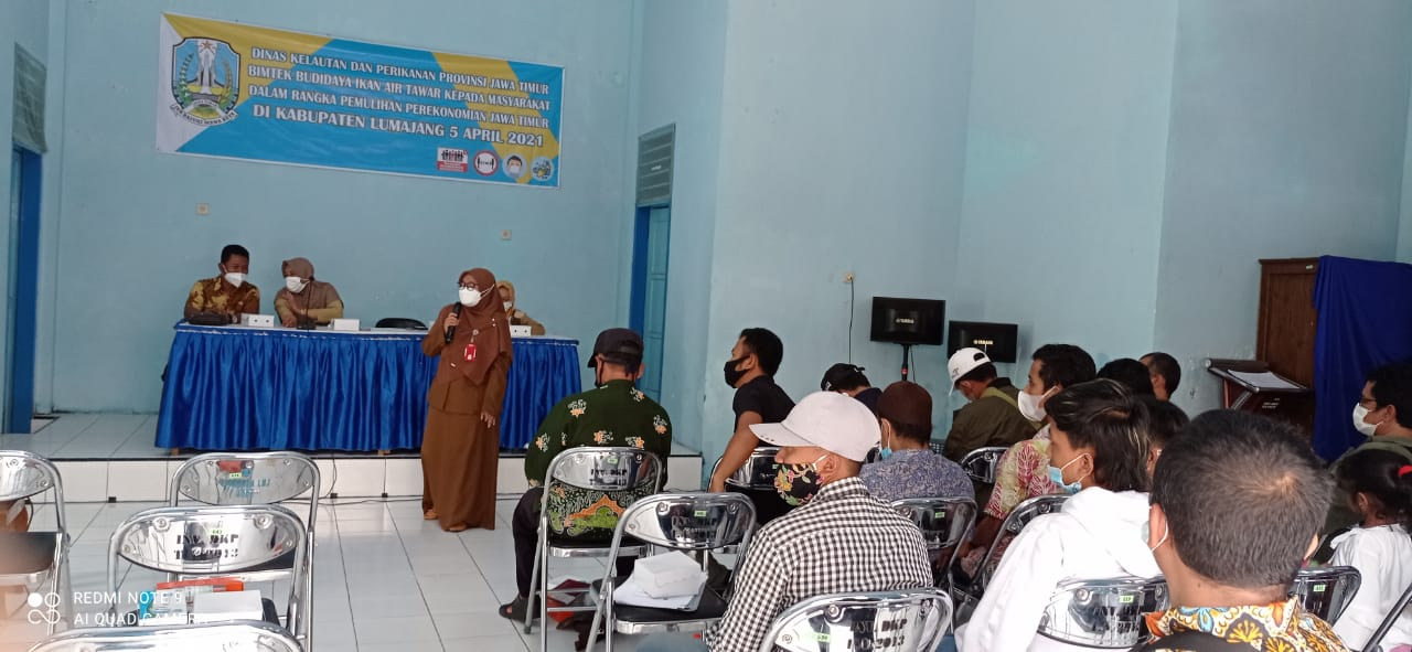 Bimbingan Teknis Budidaya Ikan Air Tawar Kepada Masyarakat oleh Dinas Kelautan dan Perikanan Provinsi Jawa Timur